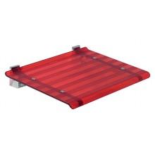 SAPHO Koh-i-noor 5368R LEO sprchové sedátko 40x31cm, červená
