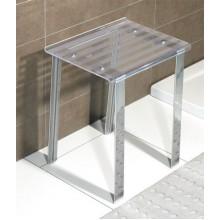 SAPHO Koh-i-noor 5370T LEO koupelnová stolička 40x30x46cm, čirá