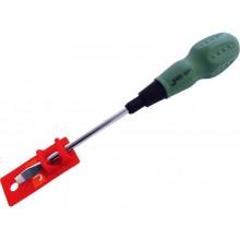 EXTOL PREMIUM šroubovák plochý, (-) 5x100mm, magnet, CrV 55012