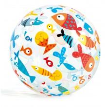 INTEX Nafukovací plážový míč s potiskem 61cm 59050