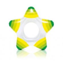 INTEX Nafukovací kruh hvězda, zelený 59243