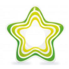 INTEX Nafukovací kruh hvězda, zelený 59243NP