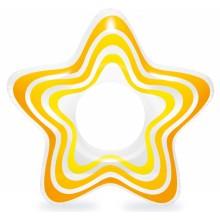 INTEX Nafukovací kruh hvězda, oranžový 59243