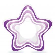 INTEX Nafukovací kruh hvězda, fialový 59243NP