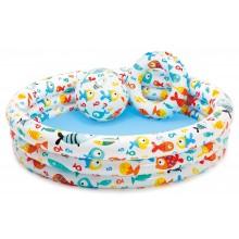 INTEX Bazén Fishbowl Pool Set 122 × 25 cm, bez filtrace 59469