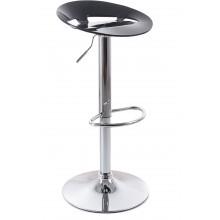 G21 Barová židle Teara plastová, černá 60023088