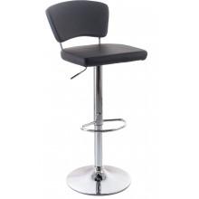 G21 Barová židle Redana koženková s opěradlem, černá 60023091