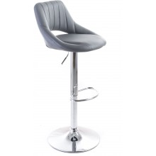 G21 Barová židle Aletra koženková, prošívaná šedá 60023094