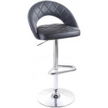 G21 Barová židle Victea koženková, prošívaná černá 60023097