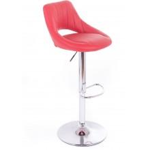 G21 Barová židle Aletra koženková, prošívaná červená 60023185