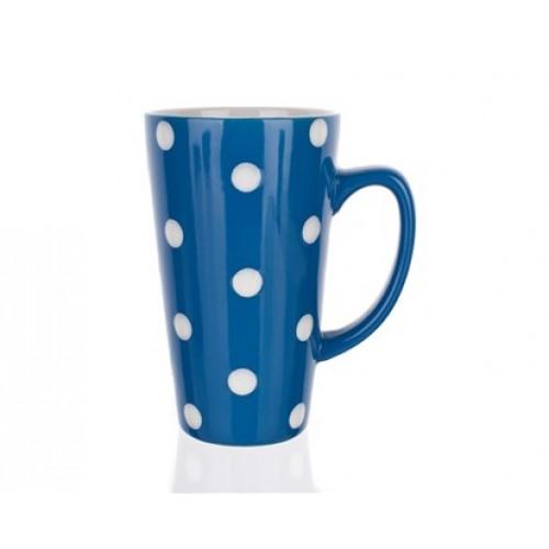 BANQUET hrnek vysoký modrá s puntíky 60162900001