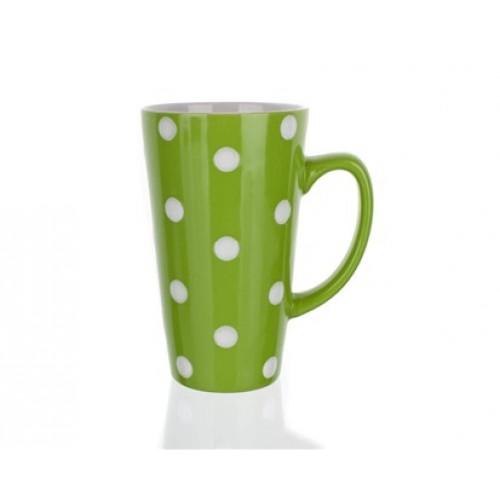 BANQUET hrnek vysoký zelený s puntíky 60162900004