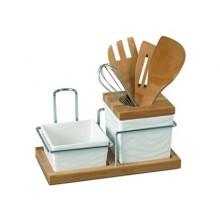 BANQUET 8dílná sada kuchyňského náčiní Collezione Bianca 60CZ910781W