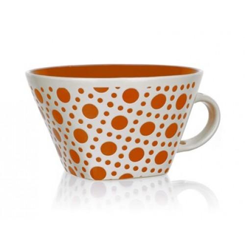 BANQUET Jumbo hrnek square oranžový puntík 60HH1265011OR