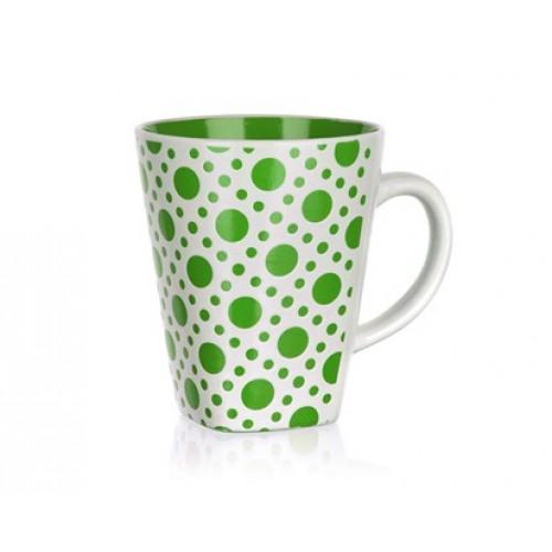 BANQUET hrnek square zelený puntík 60HH1265809G