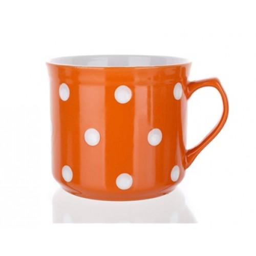 BANQUET hrnek BIG oranžový s puntíky 60JSM9974N-D