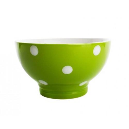 BANQUET miska zelená s puntíky 60K1575-A