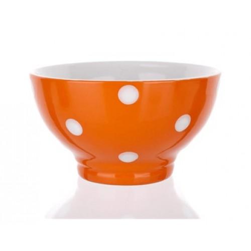 BANQUET miska oranžová s puntíky 60K1575-D