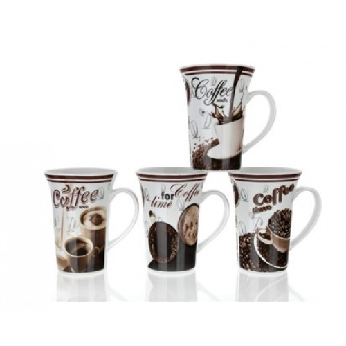 BANQUET hrnek vysoký kávová kompozice, assorted 60RX02623
