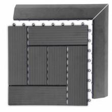 WPC Přechodová lišta pro dlaždice G21 Eben, 38,5 x 7,5 cm rohová (pravá) 63910033