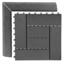 WPC Přechodová lišta pro dlaždice G21 Eben, 38,5 x 7,5 cm rohová (levá) 63910034
