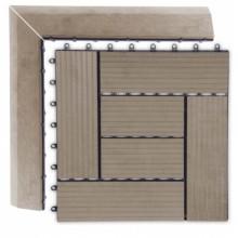 WPC Přechodová lišta pro dlaždice G21 indický teak, 38,5x7,5 cm rohová (levá) 3910068
