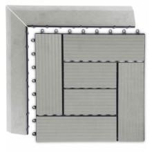 WPC Přechodová lišta pro dlaždice G21 Incana, 38,5x7,5 cm rohová (levá) 63910069