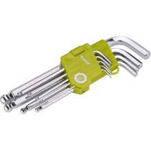 EXTOL CRAFT L-klíče imbus s kuličkou, sada 9ks 66001