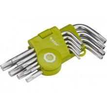 EXTOL CRAFT L-klíče TORX krátké, sada 9ks 66010