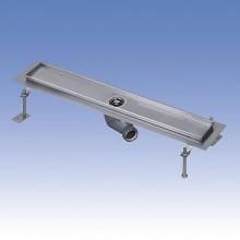 SANELA Nerezový koupelnový žlábek do prostoru SLKN 03FX, délka 750 mm, mat 68036