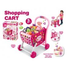 G21 Nákupní košík s melodií s příslušenstvím růžový 690844