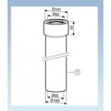 JUNKERS AZ 363 Prodloužení DN 60/100 Délka 350 mm