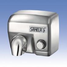 SANELA Elektrický osoušeč rukou SLO 02M s nerezovým krytem, tlačítkem na čelní stěně 79023