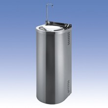 SANELA Nerezová pitná fontána SLUN 43S ke stěně,tlačná pitná arm.,napouštění sklenic 83435