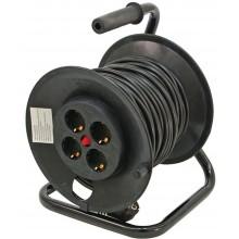 EXTOL CRAFT Prodlužovací šňůra, buben, 40m gumový kabel, 4 zásuvky 84729