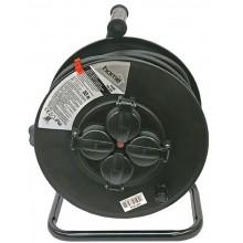 EXTOL CRAFT Prodlužovací šňůra, buben, 30m gumový kabel, 4 zásuvky, IP44 84861