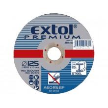 EXTOL PREMIUM kotouč řezný a brusný, řezný na ocel 115x1,0x22,2mm 8808100