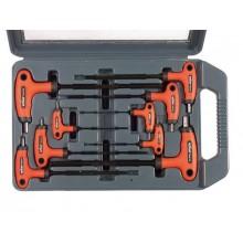 EXTOL PREMIUM T-klíče imbusové, sada 9ks, 2-2,5-3-4-5-6-7-8-10mm, T-držadlo 8819301