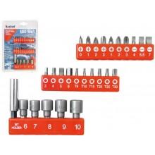 EXTOL PREMIUM hroty, sada 26ks, 25mm, magnetický držák hrotů, CrMoV 8819620