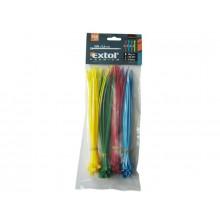 EXTOL PREMIUM stahovací pásky, barevné, 100x2,5mm 8856192
