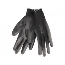 """EXTOL PREMIUM rukavice z polyesteru polomáčené, velikost 11"""", černé 8856638"""