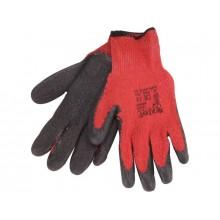 """EXTOL PREMIUM rukavice bavlněné polomáčené, velikost 8"""", červenočerné 8856640"""