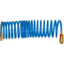 EXTOL PREMIUM hadice vzduchová spirálová PU s mosaznými rychlospojkami, 6mm, L8m 8865132