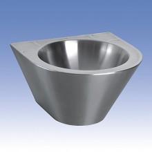 SANELA Nerezové umyvadlo SLUN 59, pr. 360 mm, kónické 93590