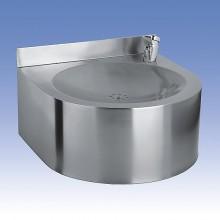 SANELA Nerezová pitná fontánka SLUN 62 závěsná s tlačná armatura 93620