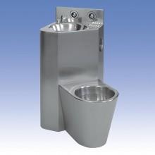 SANELA WC s umyvadlem do rohu SLWN 08ZP, WC závěsné vpravo, závitové tyče 94084