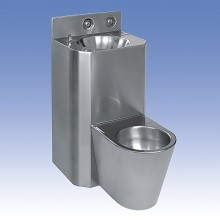 SANELA WC s umyvadlem rovný SLWN 28, WC na zemi, závitové tyče 94282