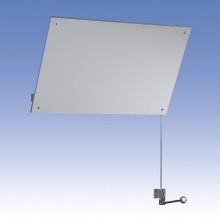 SANELA Nerezové zrcadlo sklopné SLZN 52, ovládání na zdi 95520