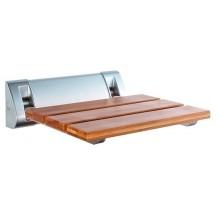 AQUALINE Sprchové sedátko 32x23cm, sklopné, bambus AE236