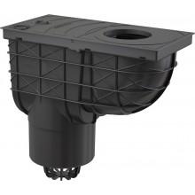 ALCAPLAST Univerzální lapač střešních splavenin 300 × 155/125 přímý černý AGV2